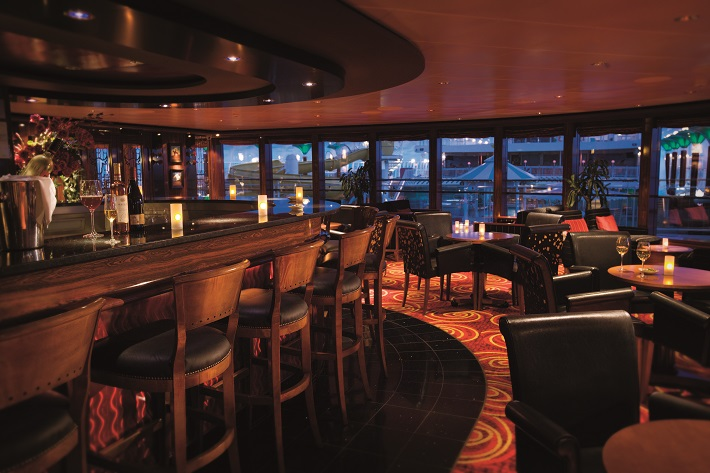 Sophisticated interior of the Star Bar on-board Norwegian Pearl