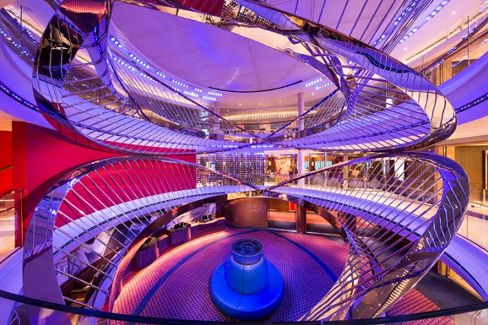 The stunning contemporary Atrium on-board Holland America Line Koningsdam