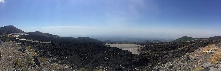 The view from Mount Etna during an MSC Meraviglia cruise excursion