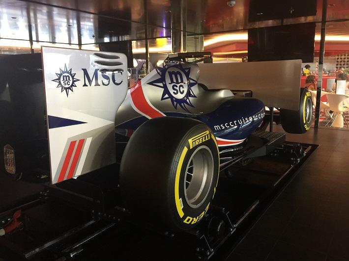 One of the F1 simulators on-board MSC Meraviglia