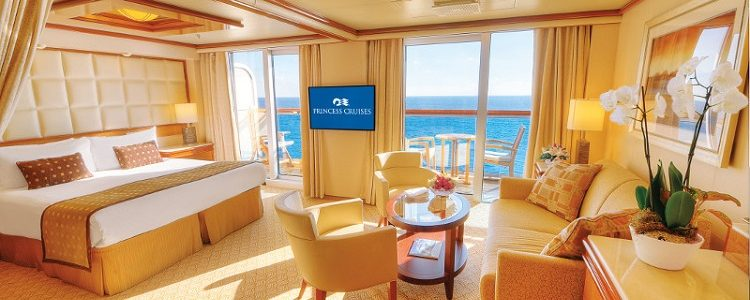 Spacious, sophisticated accessible stateroom on-board Princess Cruises' Royal Princess