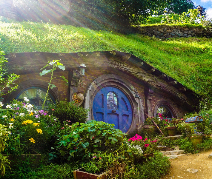 Hobbiton, home to the Lord of the Rings and The Hobbit trilogies - a popular tourist attraction