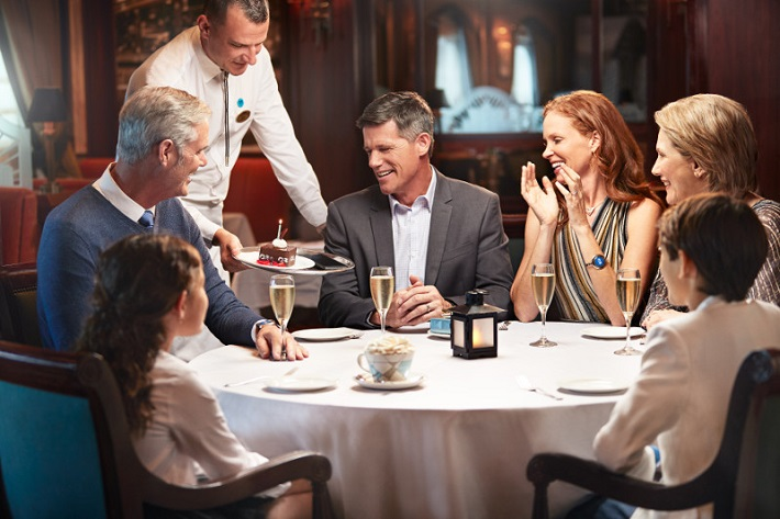Guests enjoying Medallion-class dining on-board Princess Cruises' Crown Princess