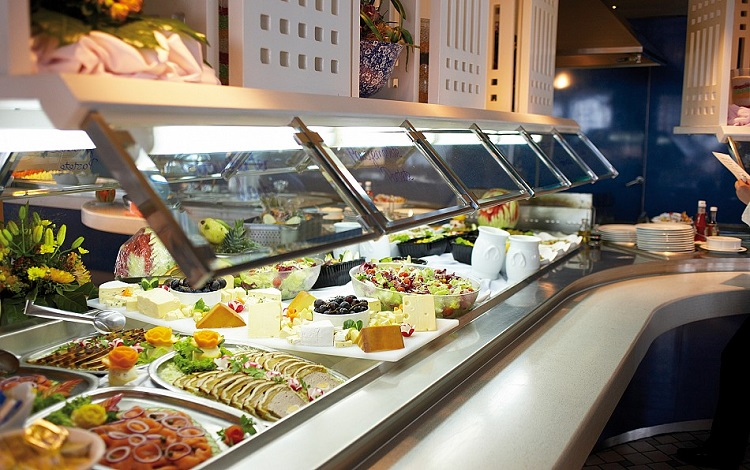 Buffet dining on-board Cruise & Maritime Voyages' Marco Polo
