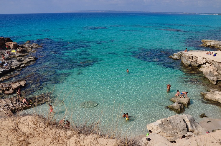 A bay in Formentera in the Balearic Islands