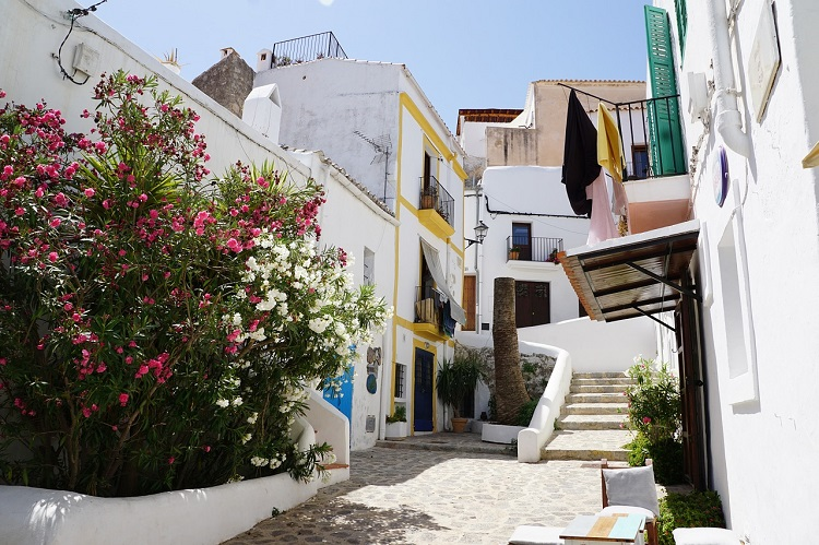 White apartments in the centre of Ibiza