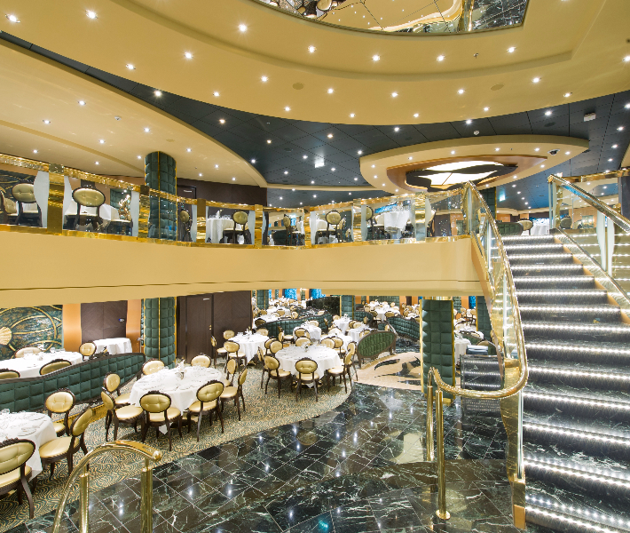 Main dining venue on-board MSC Preziosa