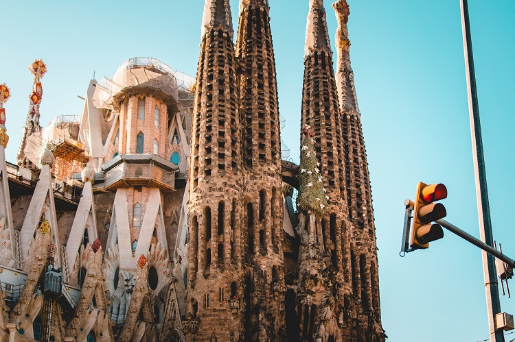 Towers of the Sagrada Familia in Barcelona