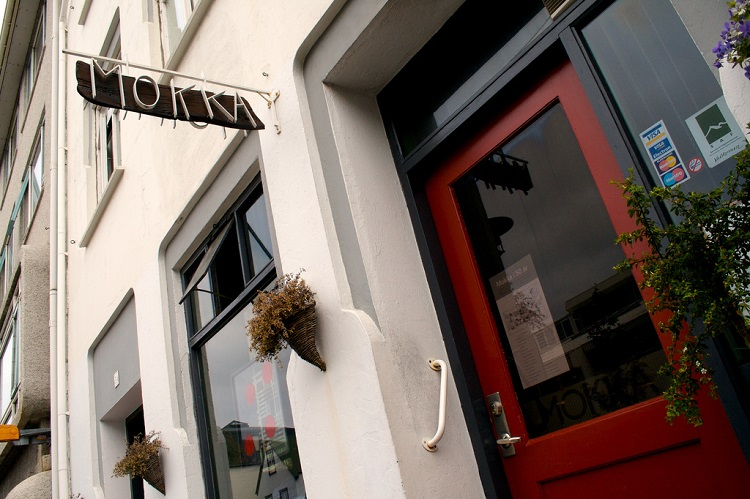 The exterior of Cafe Mokka, one of the oldest coffee shops in Reykjavik