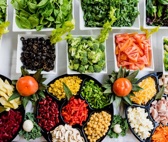 Healthy eating - salad bowls