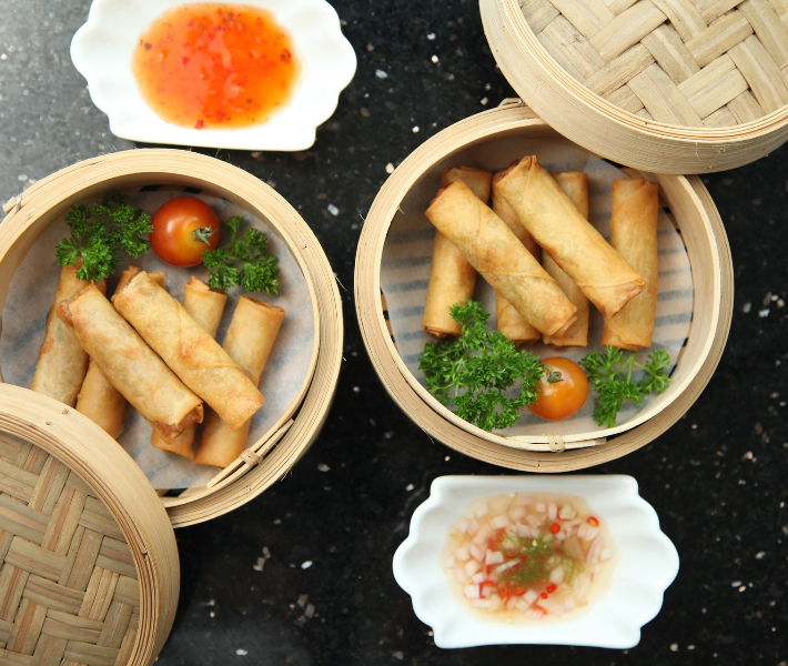 Spring rolls - a popular dish for the Chinese New Year reunion dinner