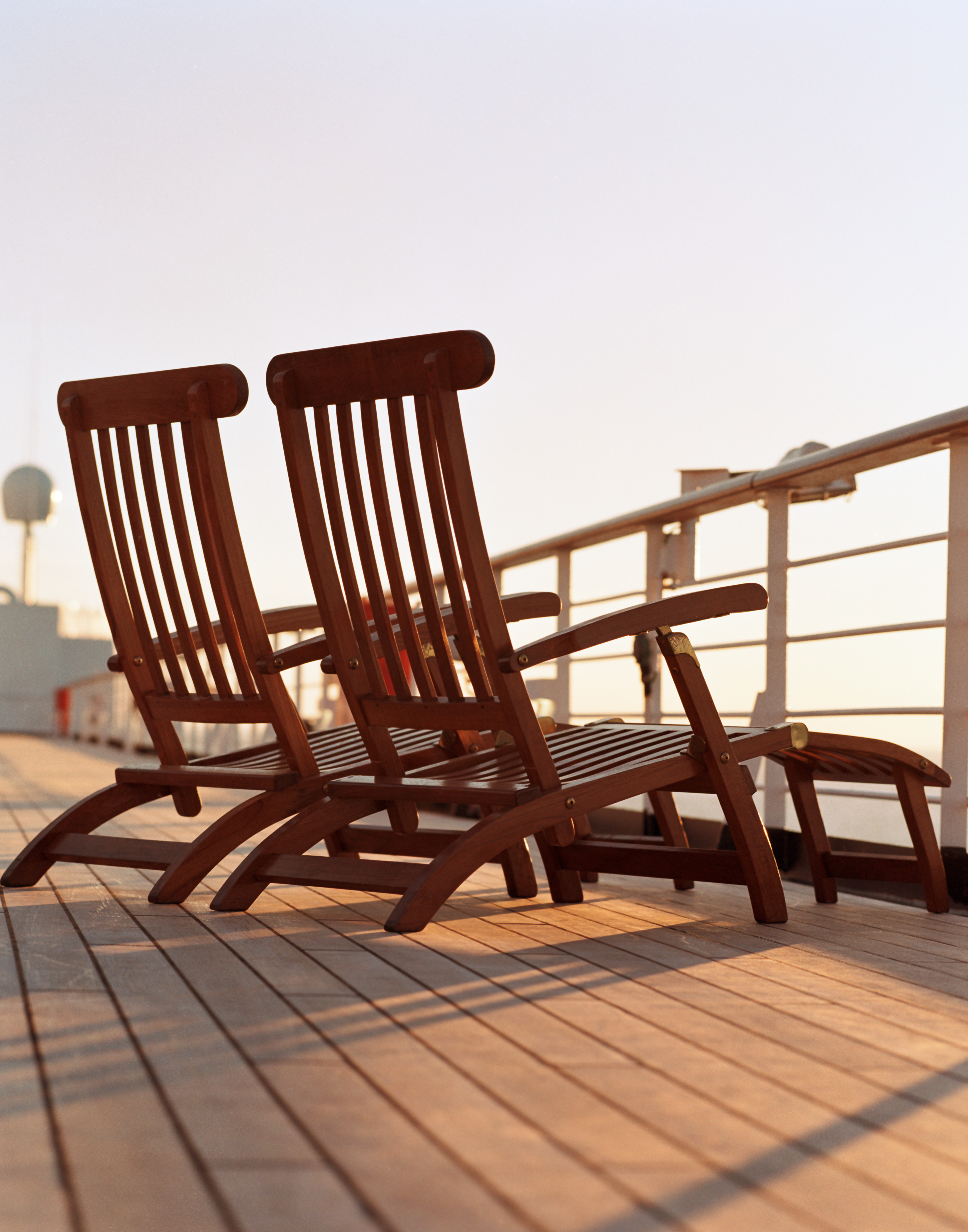 Deck chairs on the deck of Holland America Line's ms Oosterdam