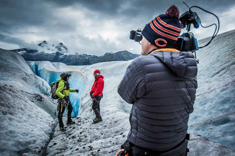 Film crew shooting in Alaska, ready for Princess Cruises' 'The Cruise'