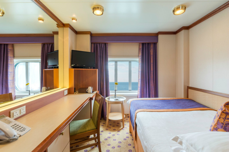 A sophisticated Single Outside stateroom on P&O Cruises' Ventura