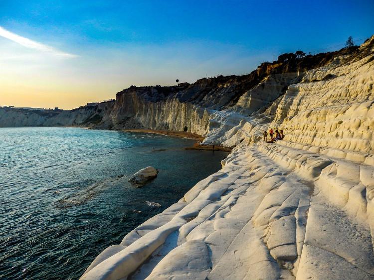 The picturesque Scala dei Turchi cliffs in Sicily