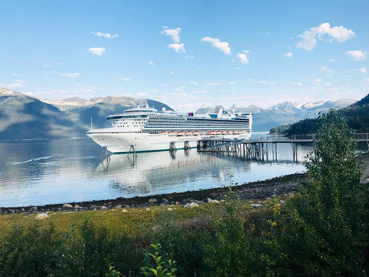 Star Princess in Alaska - sailing past the landscapes and glaciers of the region