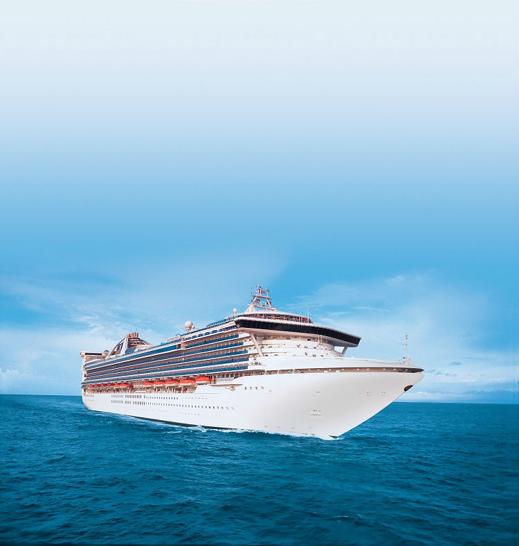 Exterior shot of Star Princess sailing