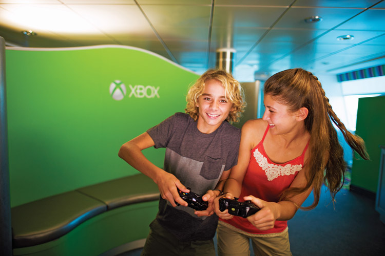Children playing on Xbox