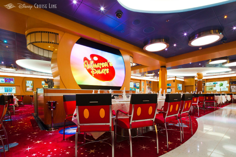 The Animator's Palate restaurant on-board the Disney Dream cruise ship