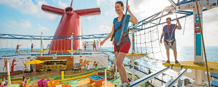 SkyCourse on-board Carnival - A high ropes course for the adventurous