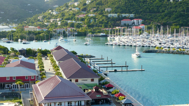 British Virgin Islands - Harbour in Road Town