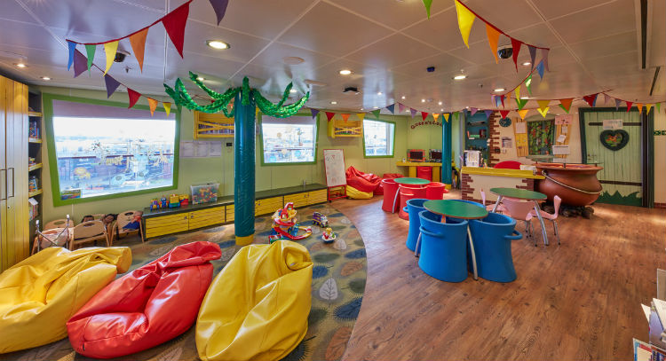 Kids Zone on-board Cunard