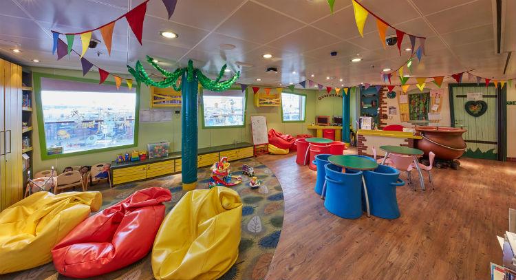 Kids Zone on-board Cunard
