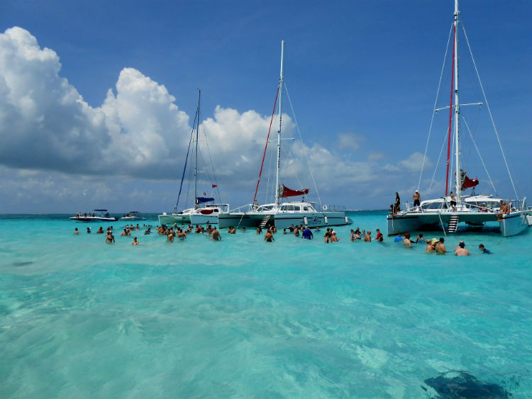 Stingray City in Grand Cayman - Cayman Islands
