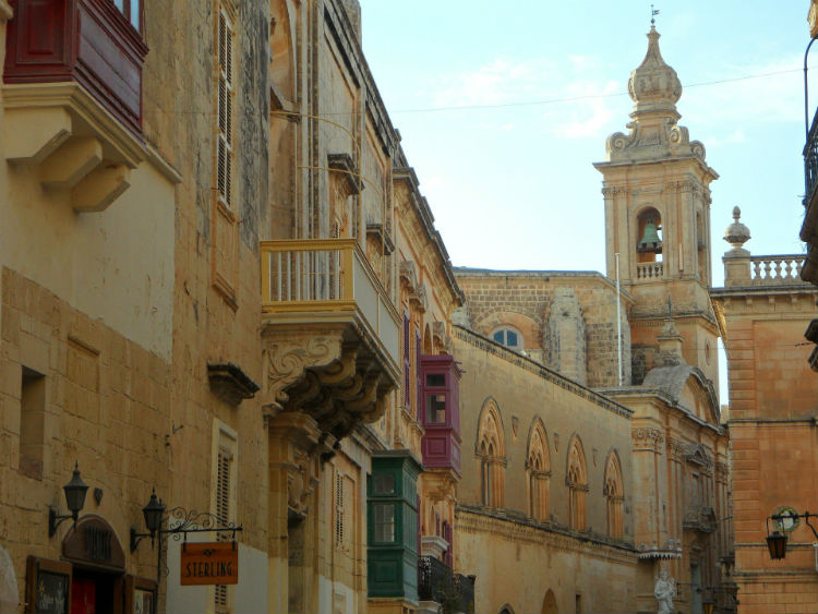 Architecture in Mdina, situated in Malta