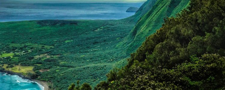 Molokaii island in Hawaii