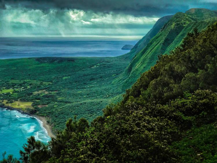 Molokaii island in Hawaii