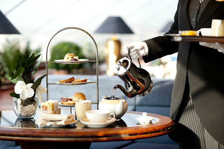 Butler service on-board MSC Cruises - Afternoon tea