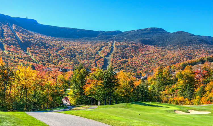 Vermont in Canada during fall season