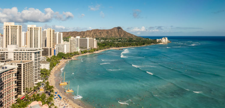 Coastline of Waikiki