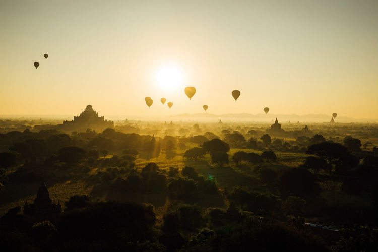 Southeast Asia - Bagan temples in the sun