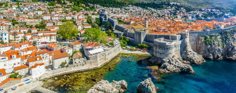 Croatia, Dubrovnik - Coastline along the Mediterranean