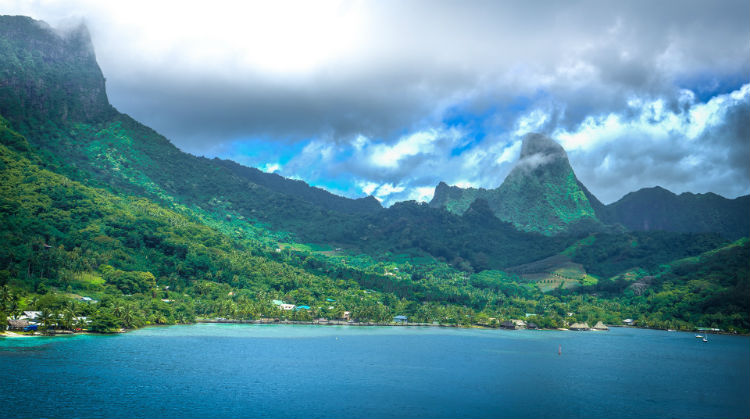 Moorea in the South Pacific