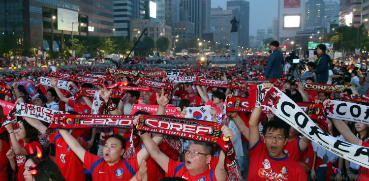 South Korean World Cup fans