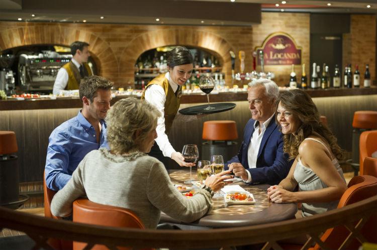 Group dining on MSC Cruises