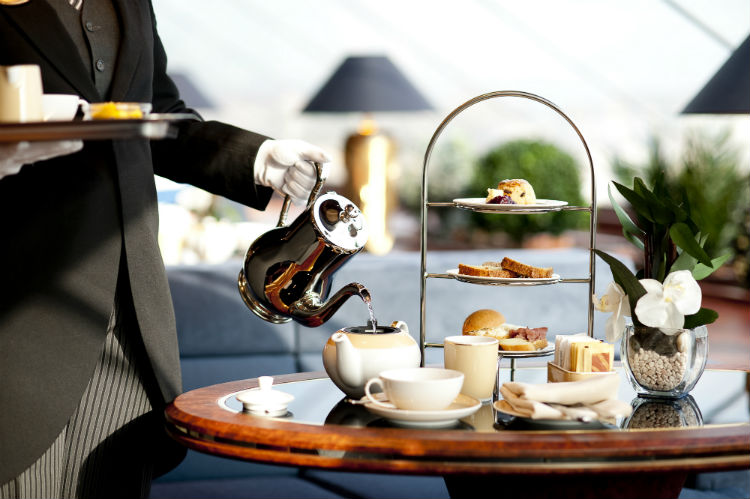 Afternoon tea on an MSC Cruise