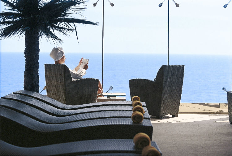 Woman relaxing on MSC Cruise