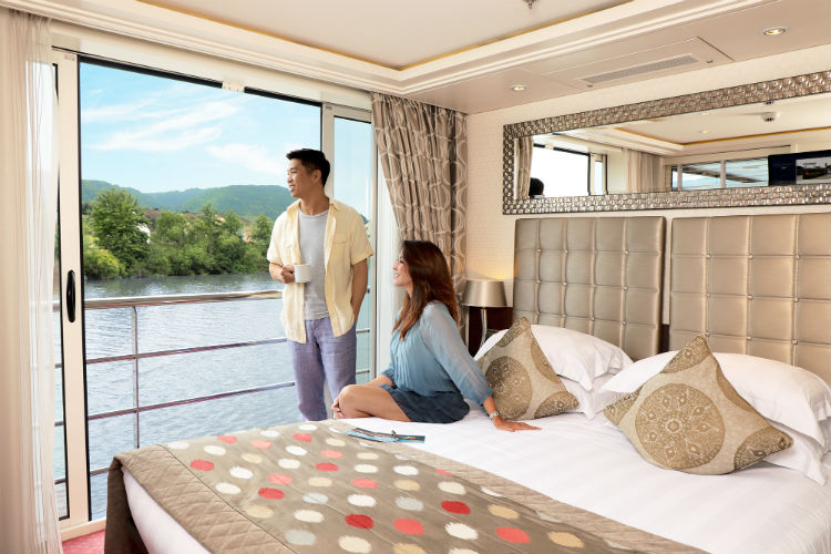 Accommodation on a river cruise