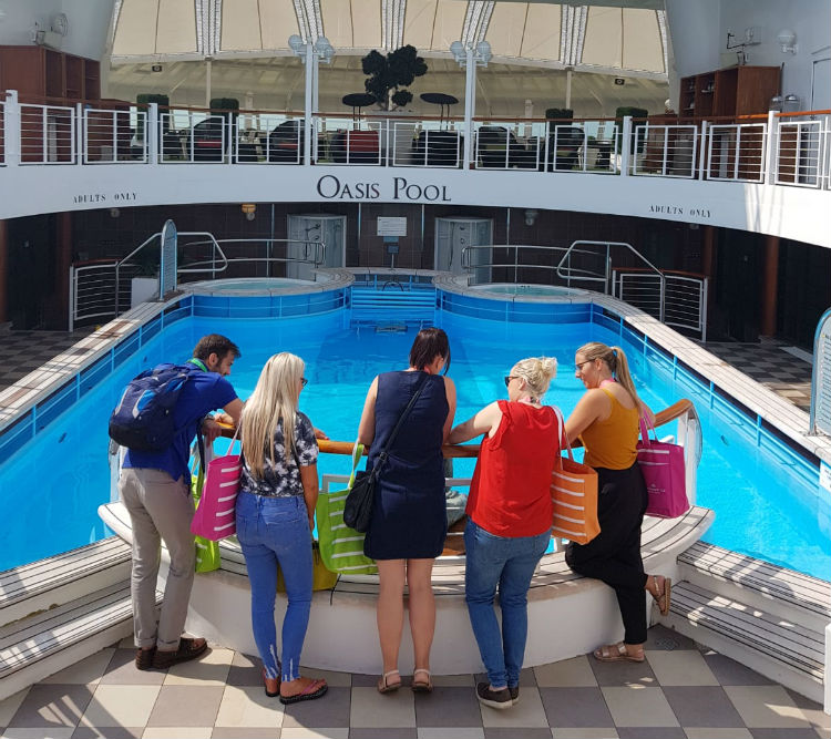 Staff on-board P&O Cruises