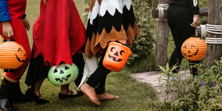 Children trick-or-treating - Halloween