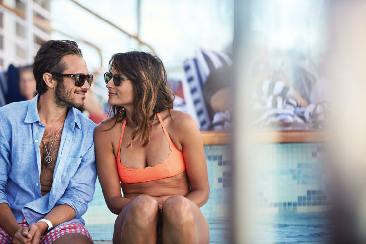 Couple by the pool - Princess Cruises