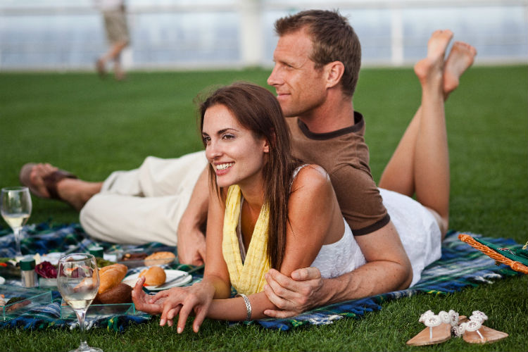 Couple on-board Celebrity Cruises - Lawn Club