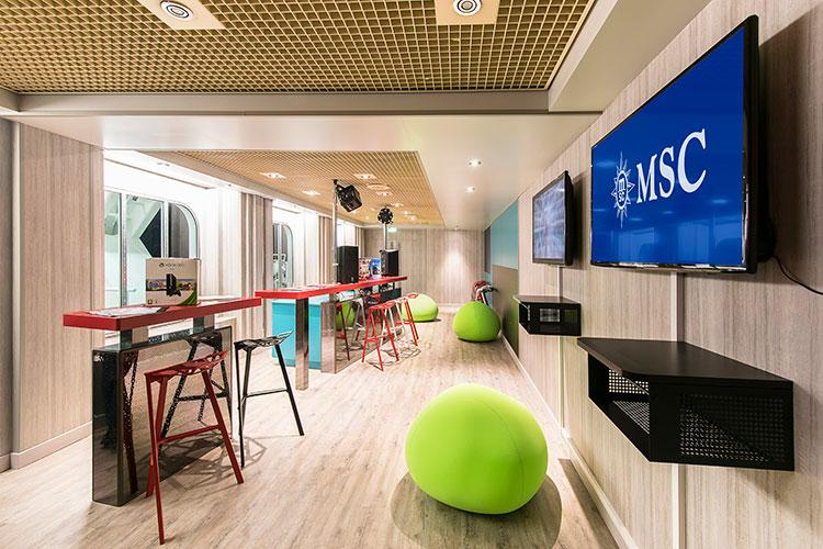 Teen zone on-board MSC Cruises