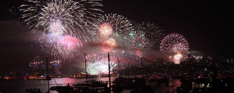 Fireworks in Sydney - New Year's Eve