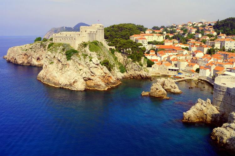 Coastline along Dubrovnik, Croatia