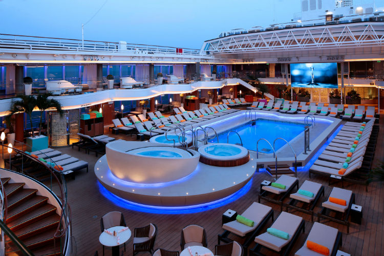 Lido Pool on-board Pinnacle Class ships with Holland America